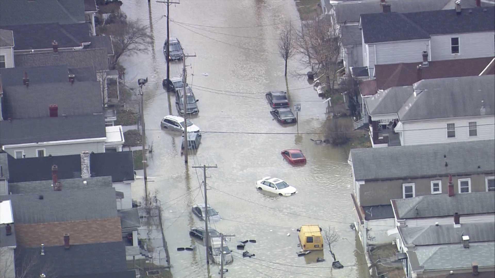 water main break, Shelby Park