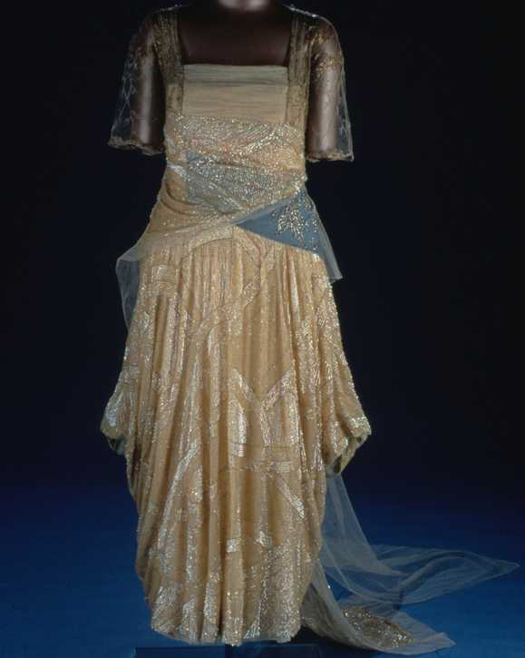 Florence Harding wore this dress to Warren G. Harding's inauguration on March 4, 1921.