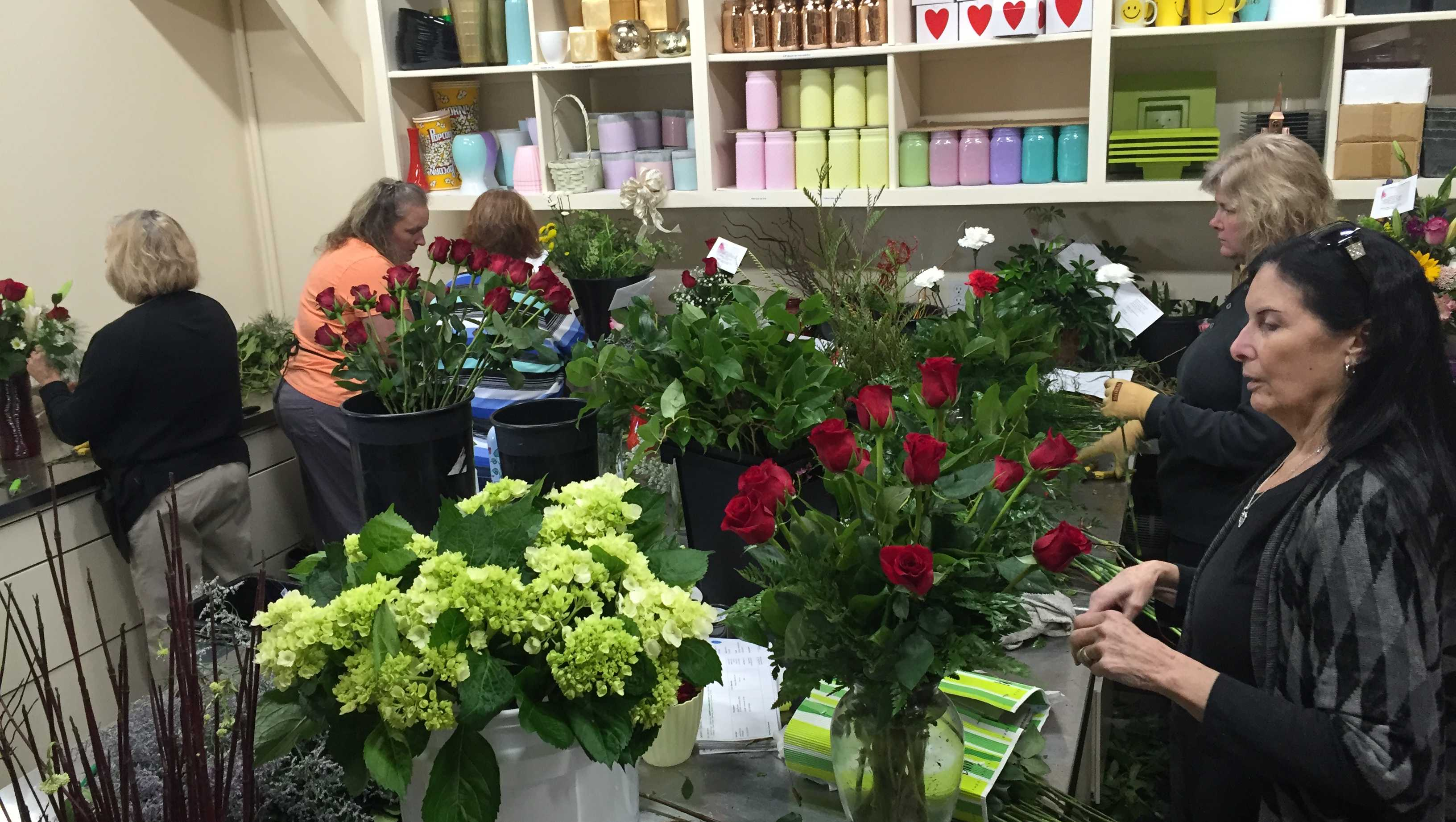 NWA Florist Prep For Valentine's Day