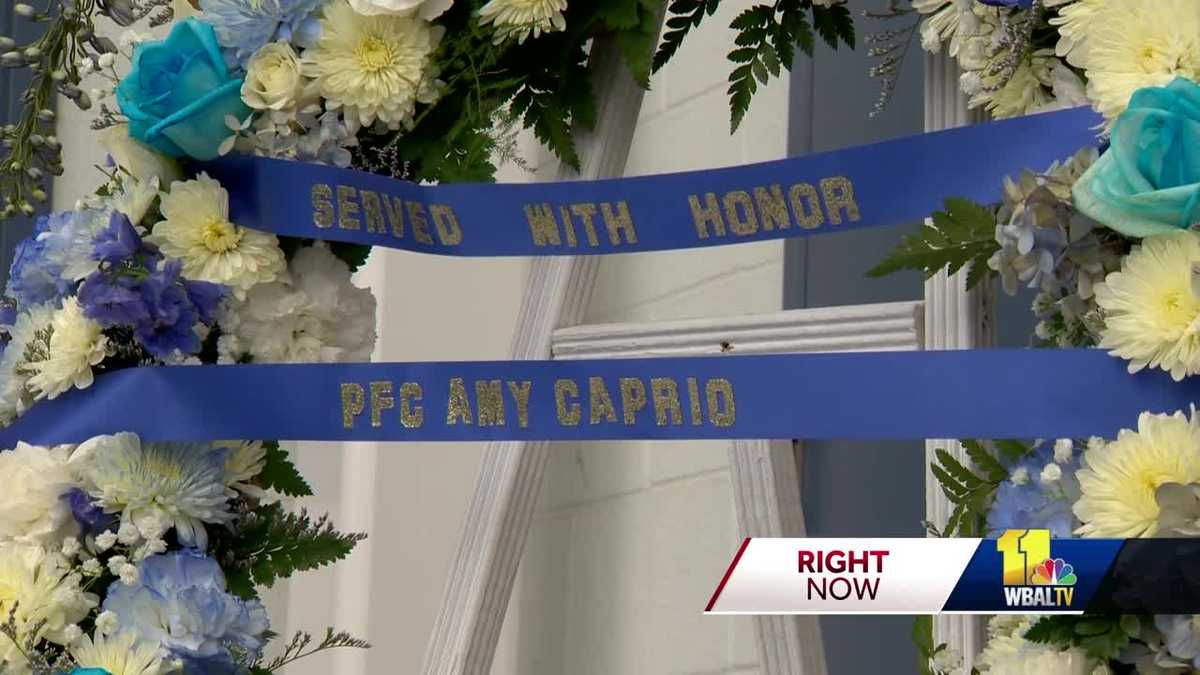 Memorials Pay Tribute To Fallen Baltimore County Police Officer