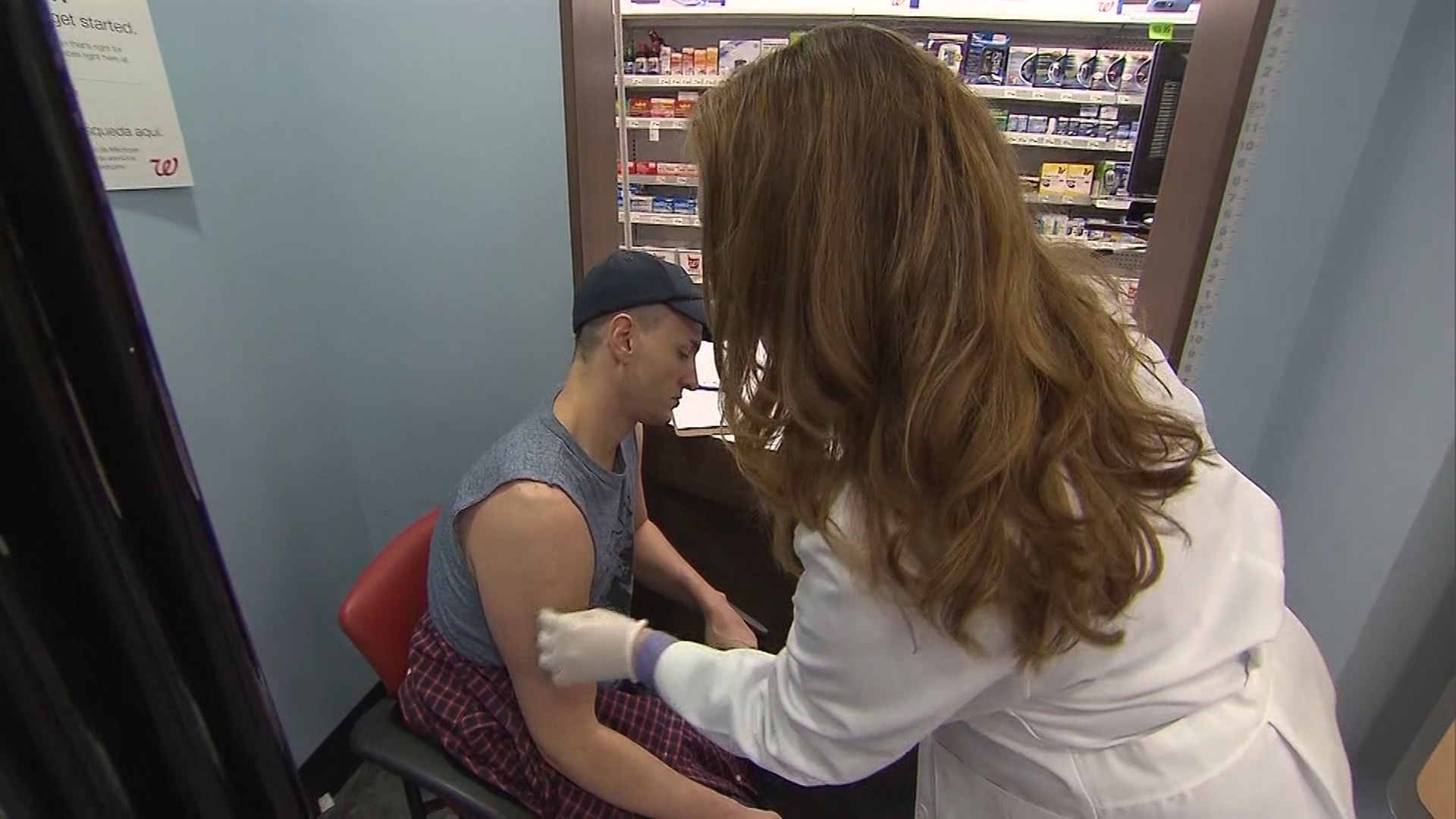File image of a man getting vaccinated