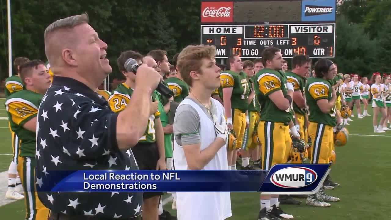 Local residents react to athlete demonstrations during national anthem