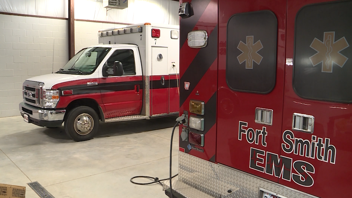 FILE image of Fort Smith EMS vehicles