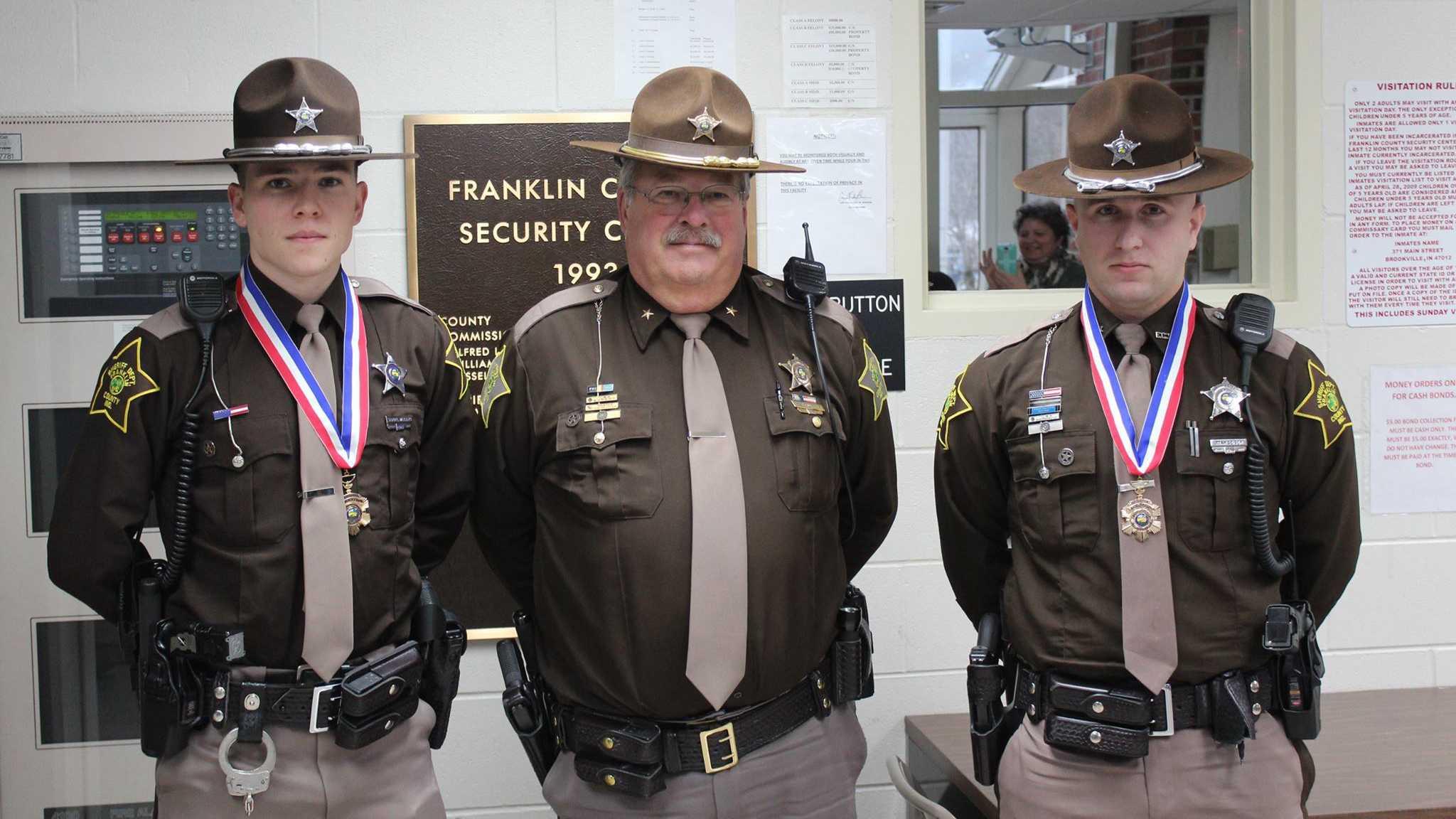 Deputy Samuel Williams, Sheriff Kenneth Murphy, Deputy Ryan Geiser