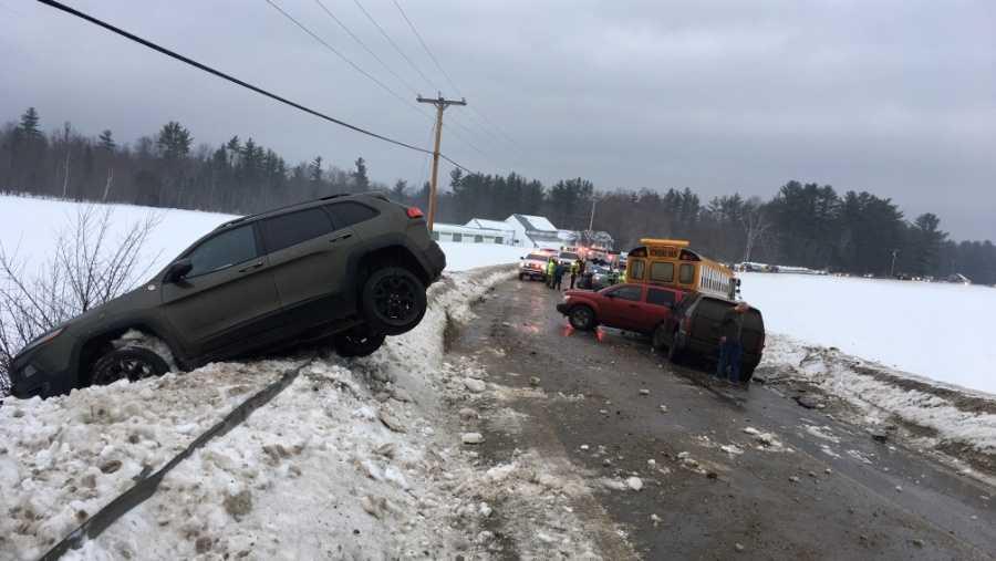 Maine school bus crash