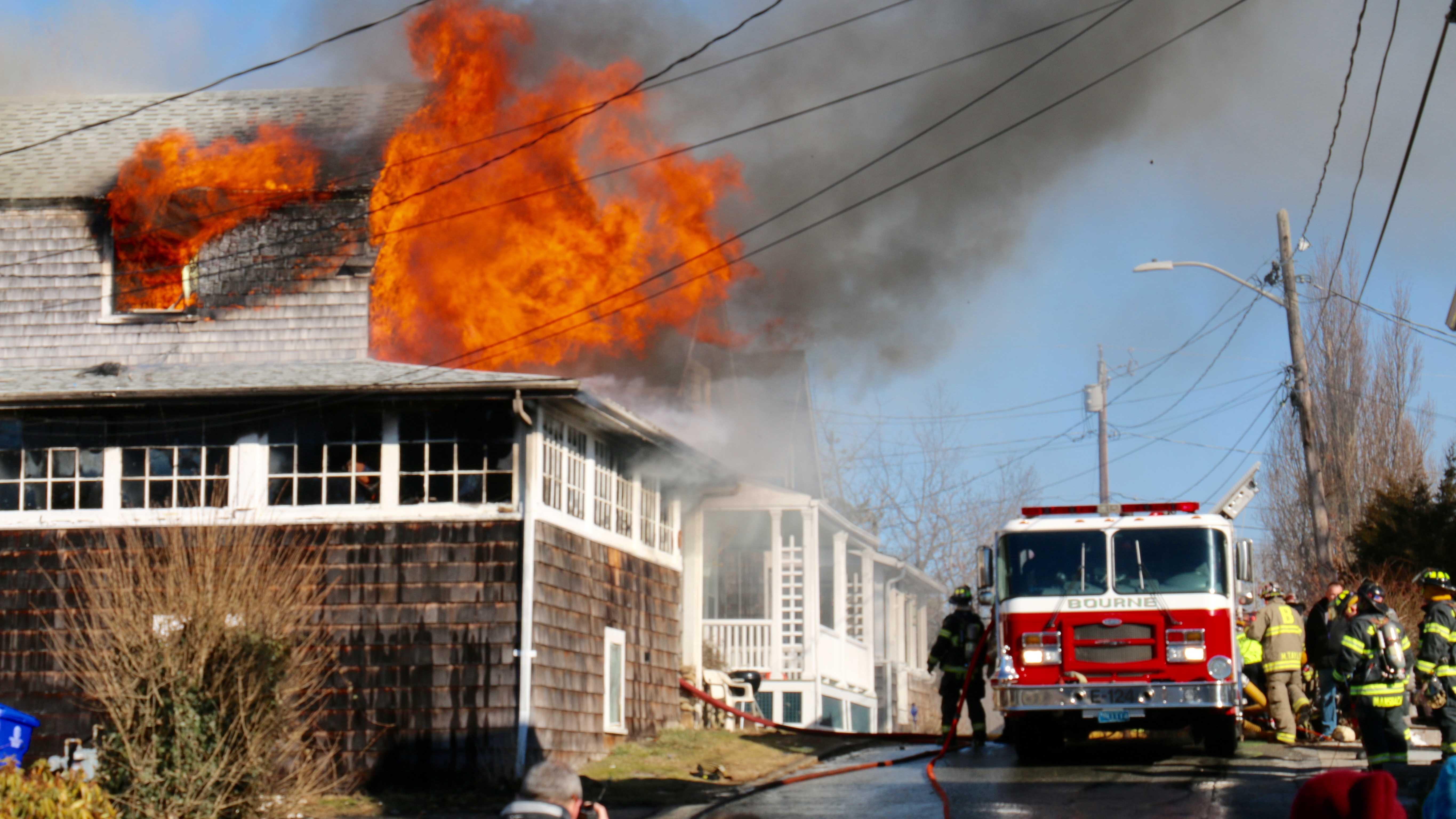 Bourne 2-alarm fire