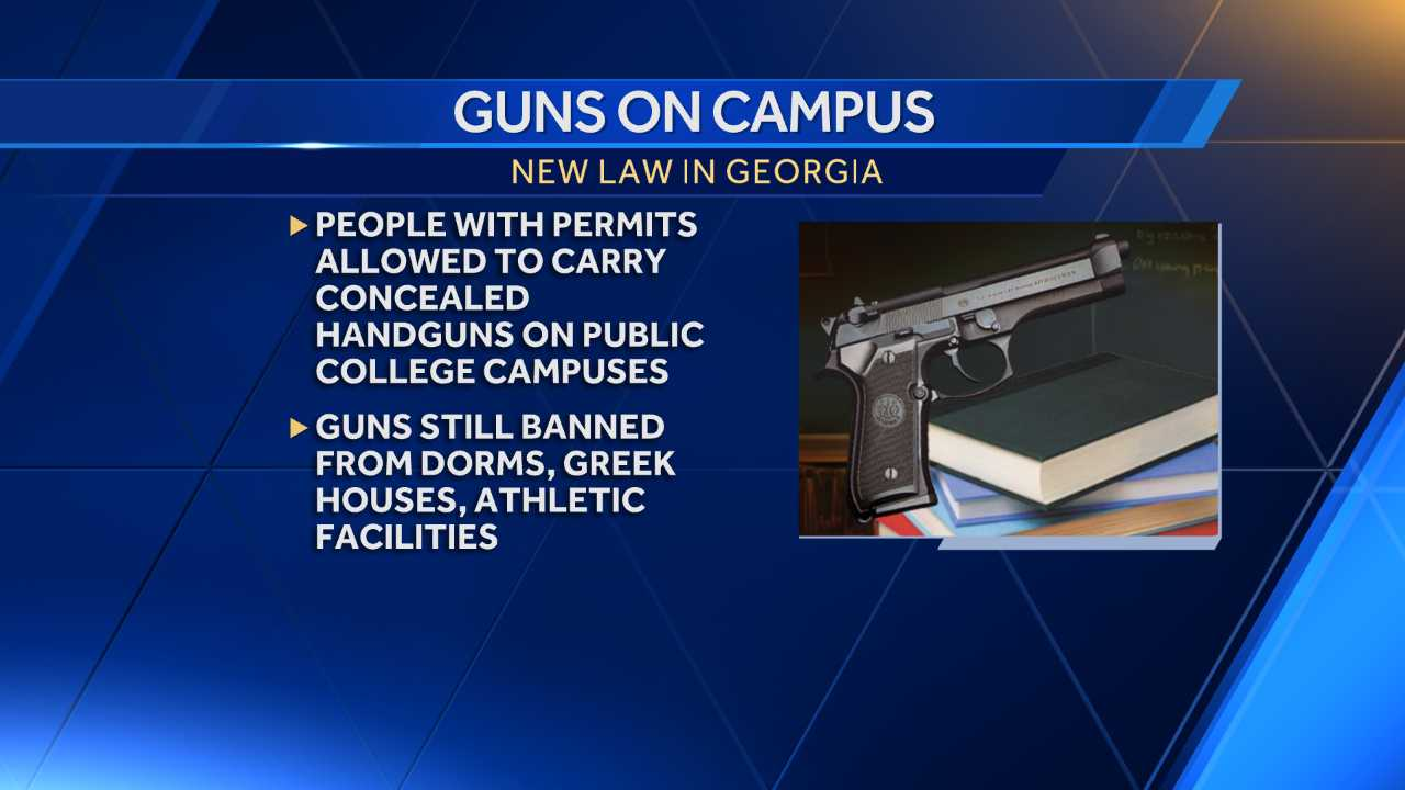 Georgia governor approves carrying concealed guns on campus