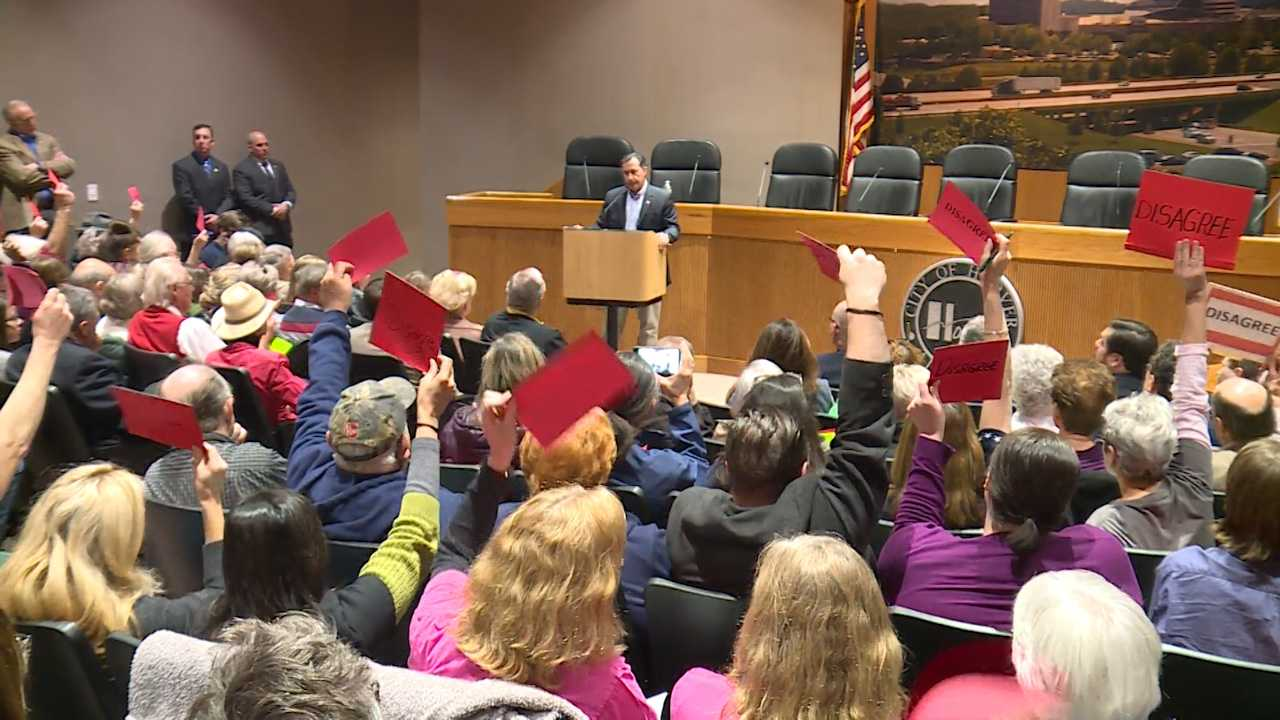 Rep. Gary Palmer held a Town Hall meeting in Hoover, Ala., Saturday, Feb. 25, 2017.