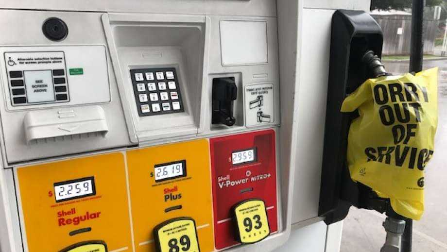 A Shell gas station in Houston was out of gasoline Friday, Sept. 1, 2017.