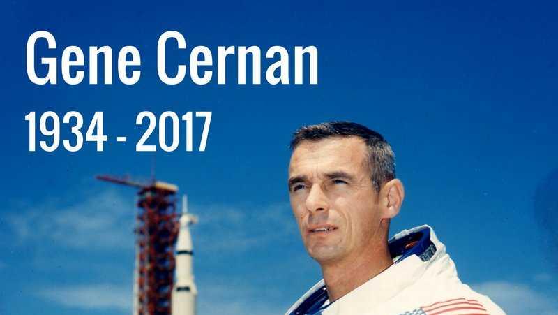 Image result for Eugene Cernan, last man on the moon, dies