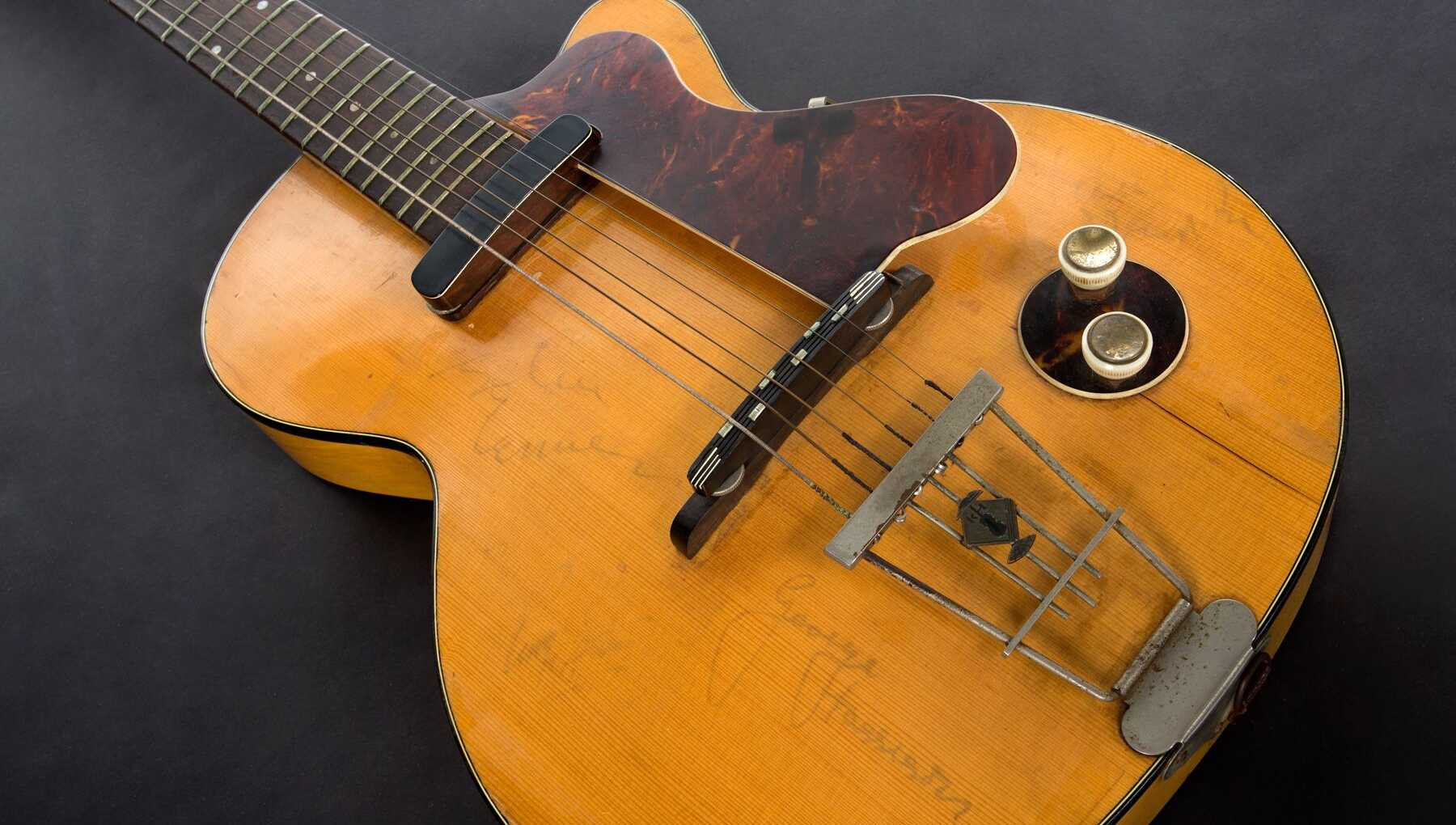 George Harrison's first electric guitar.