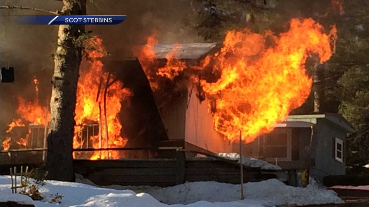 Gilford home damaged in fire