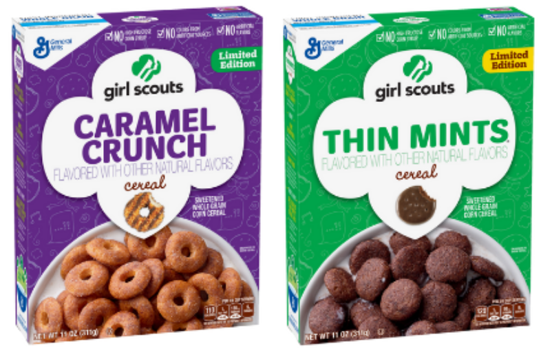 Girl Scouts Cookies Cereals