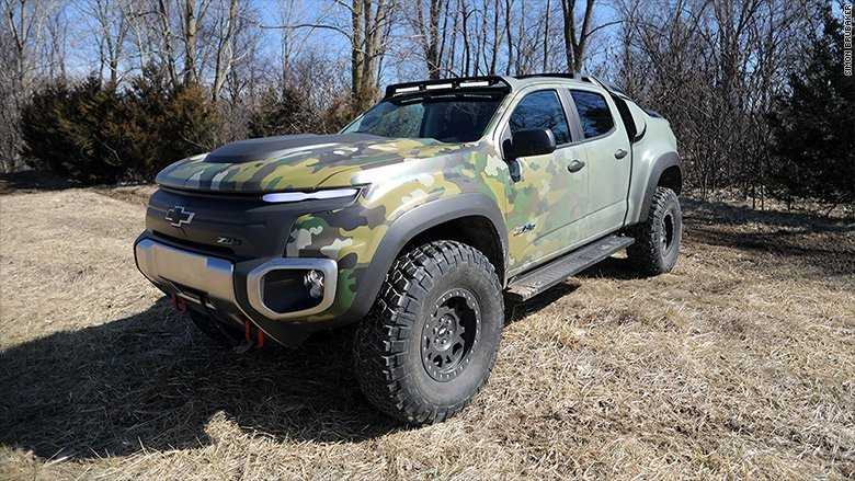 General Motors and the United States Army developed the hydrogen-powered Chevrolet ZH2 off-road truck.