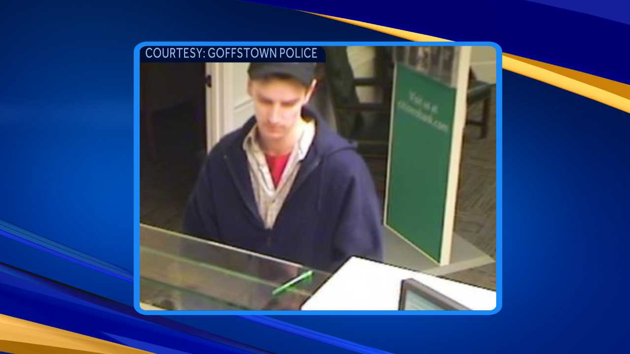 Man wanted for robbing Goffstown bank