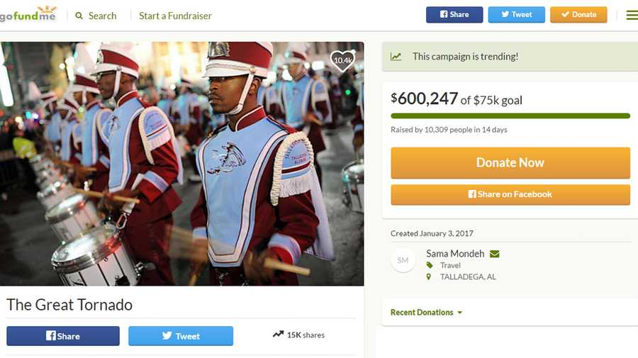 600 000 raised for talladega college band s trip to d c for