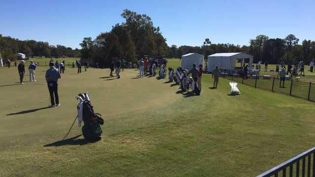 Schenk on cut line at Sanderson Farms