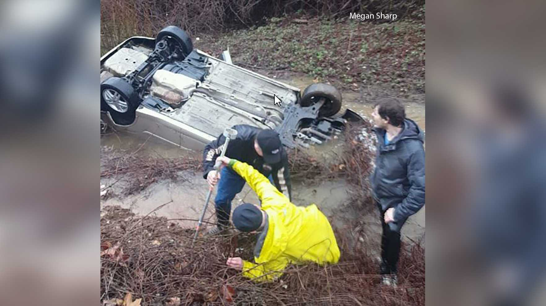 12-year-old girl, others rescued from submerged vehicle  in Placer County
