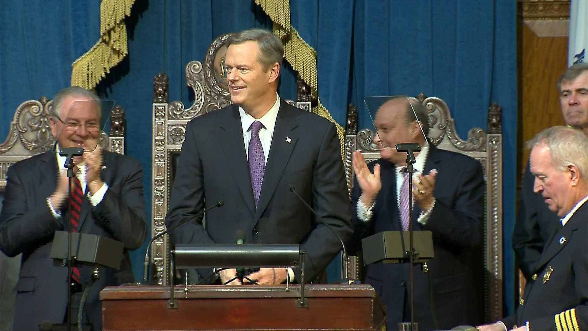 Gov. Charlie Baker delivers his second State of the Commonwealth address