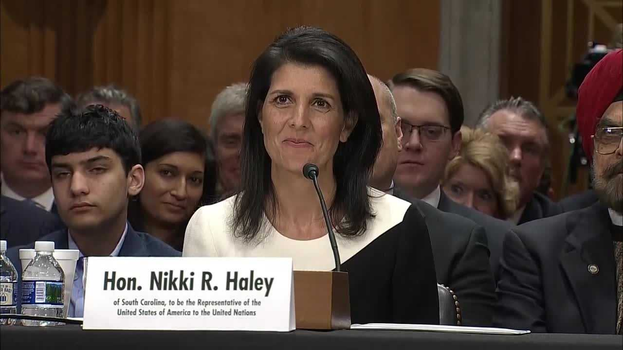 Gov.  Haley at confirmation hearing