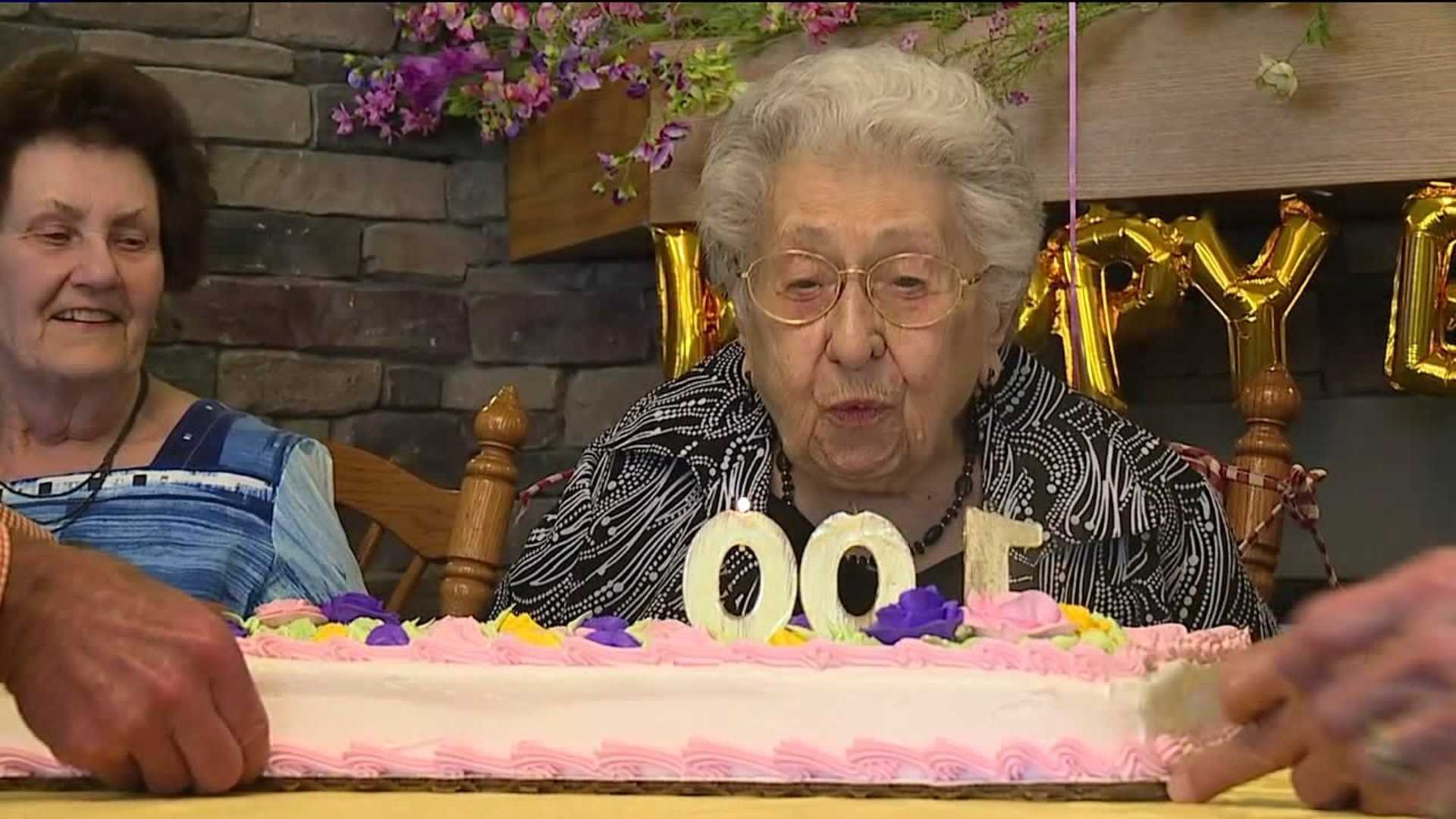Grace Speary celebrates her 100th birthday on May 8, 2018.