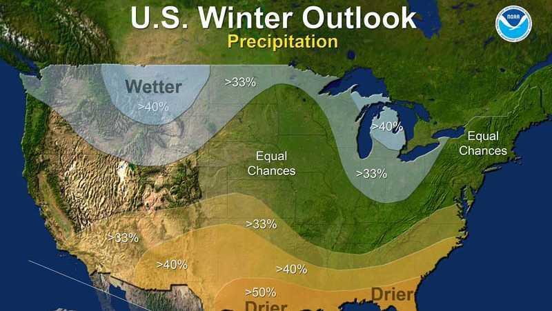 2016 winter outlook - precipitation (NOAA)
