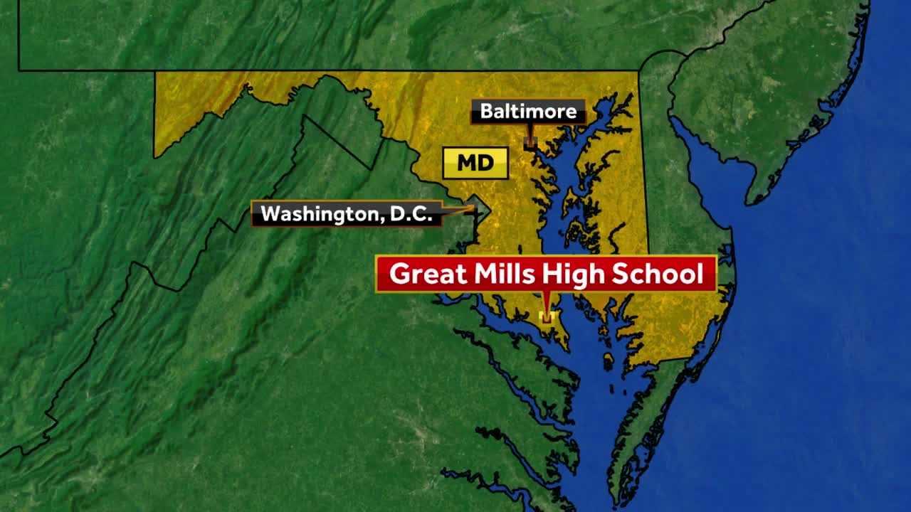 Gunman dead, 2 injured in Great Mills High School shooting