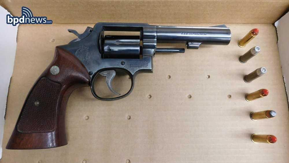 Gun found under car seat