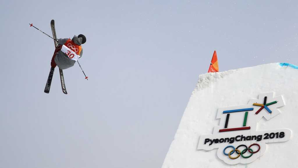 Gus Kenworthy of the United States competes during the Freestyle Skiing Men's Ski Slopestyle Final on day nine of the PyeongChang 2018 Winter Olympic Games at Phoenix Snow Park on February 18, 2018