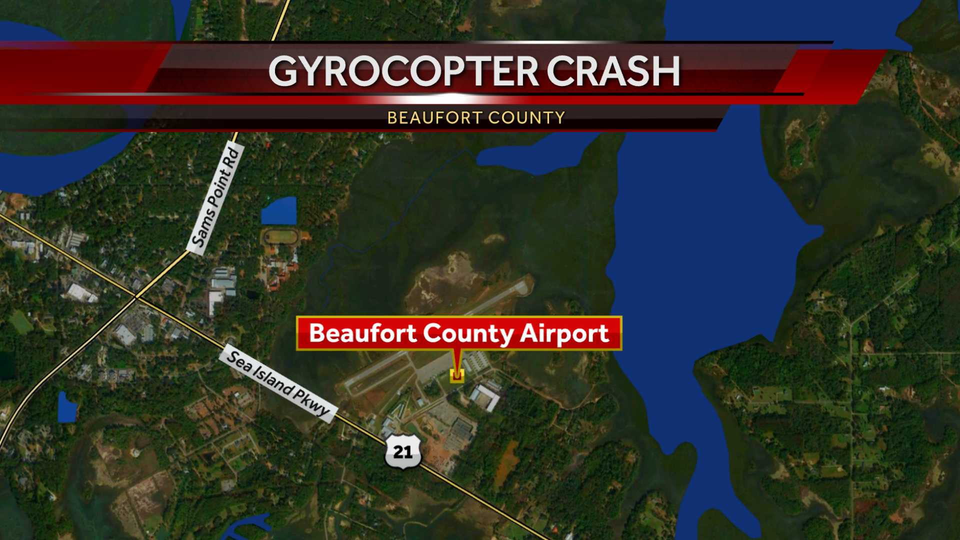 FAA & NTSB responding to Gyrocopter crash at Lady's Island Airport