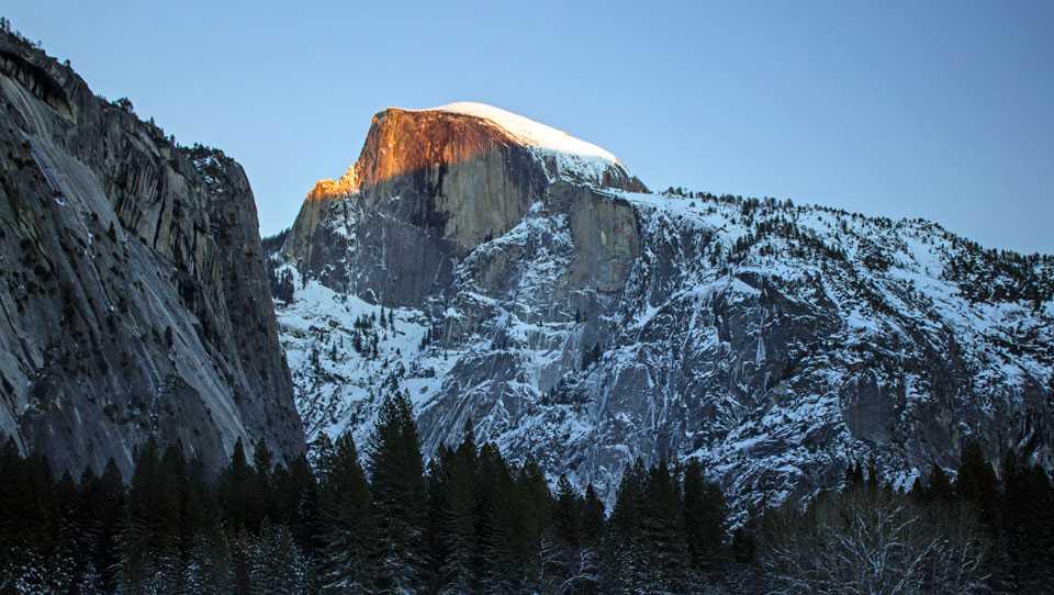 Half Dome in Yosemite park in California