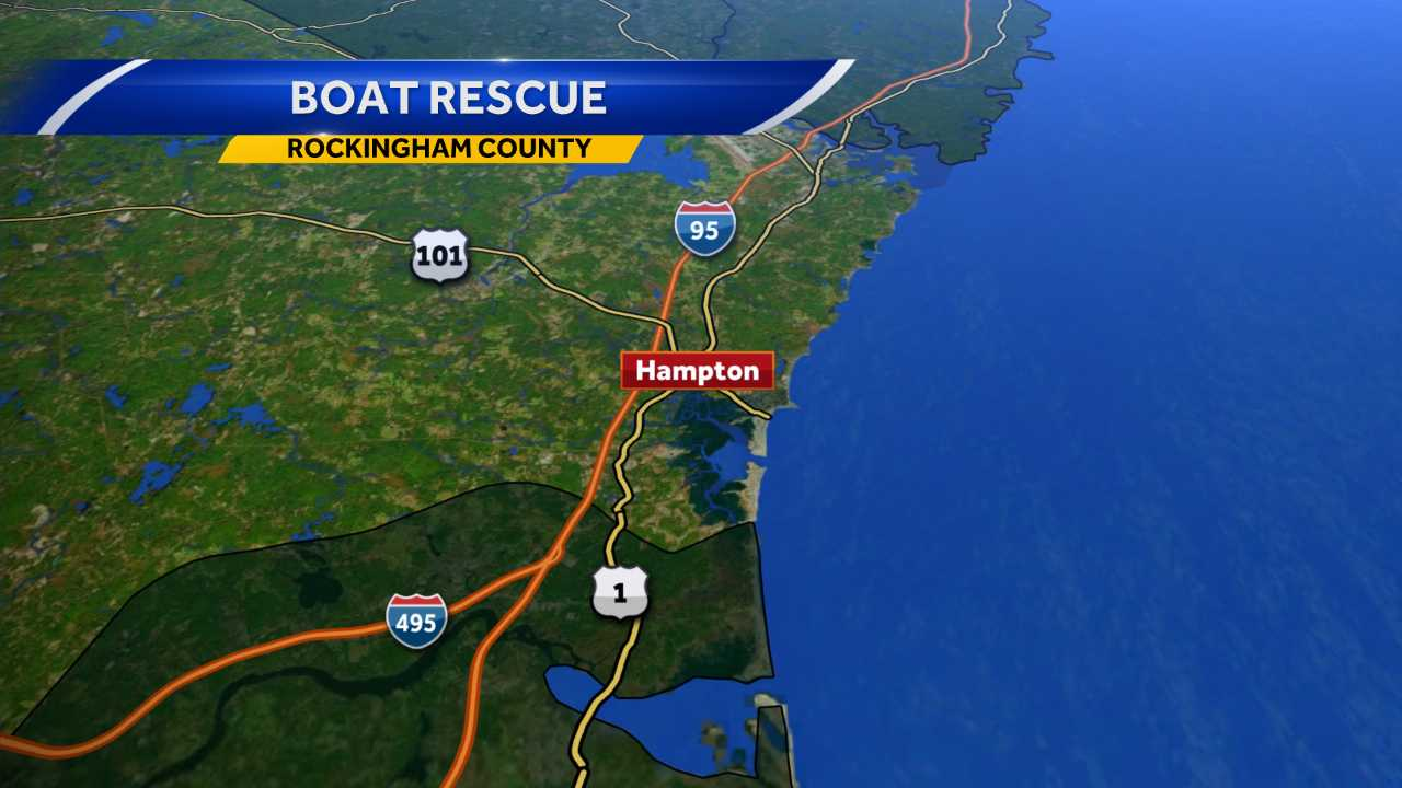 Boat rescued off the coast of Hampton