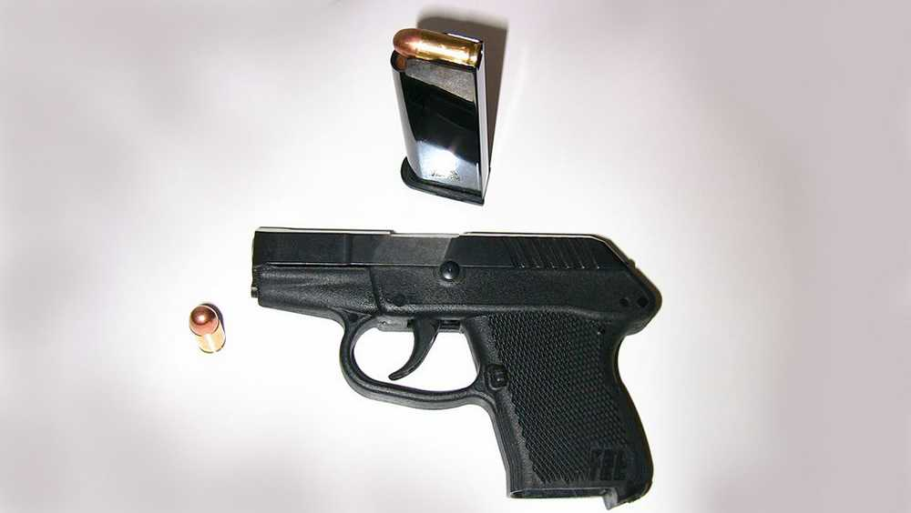 Handgun with clip and bullet