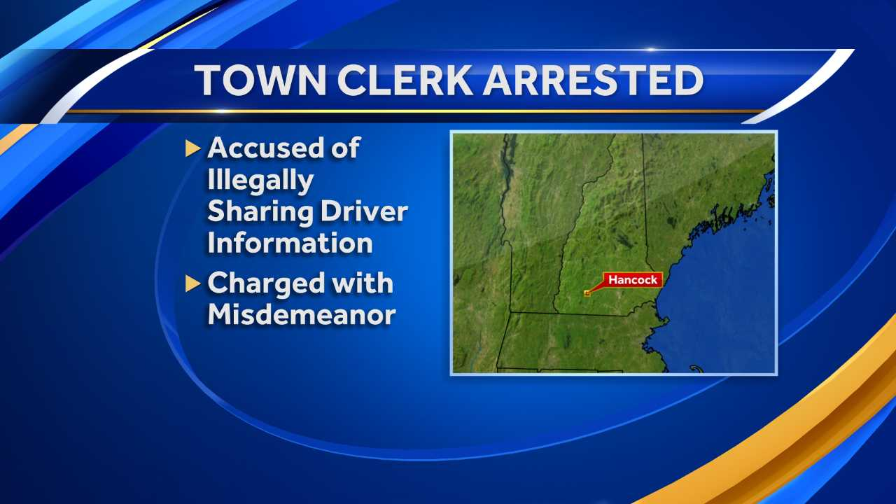 Town clerk arrested for sharing resident info