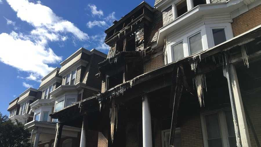 A fire broke on Friday, March 10, 2017 in Harrisburg, Pennsylvania
