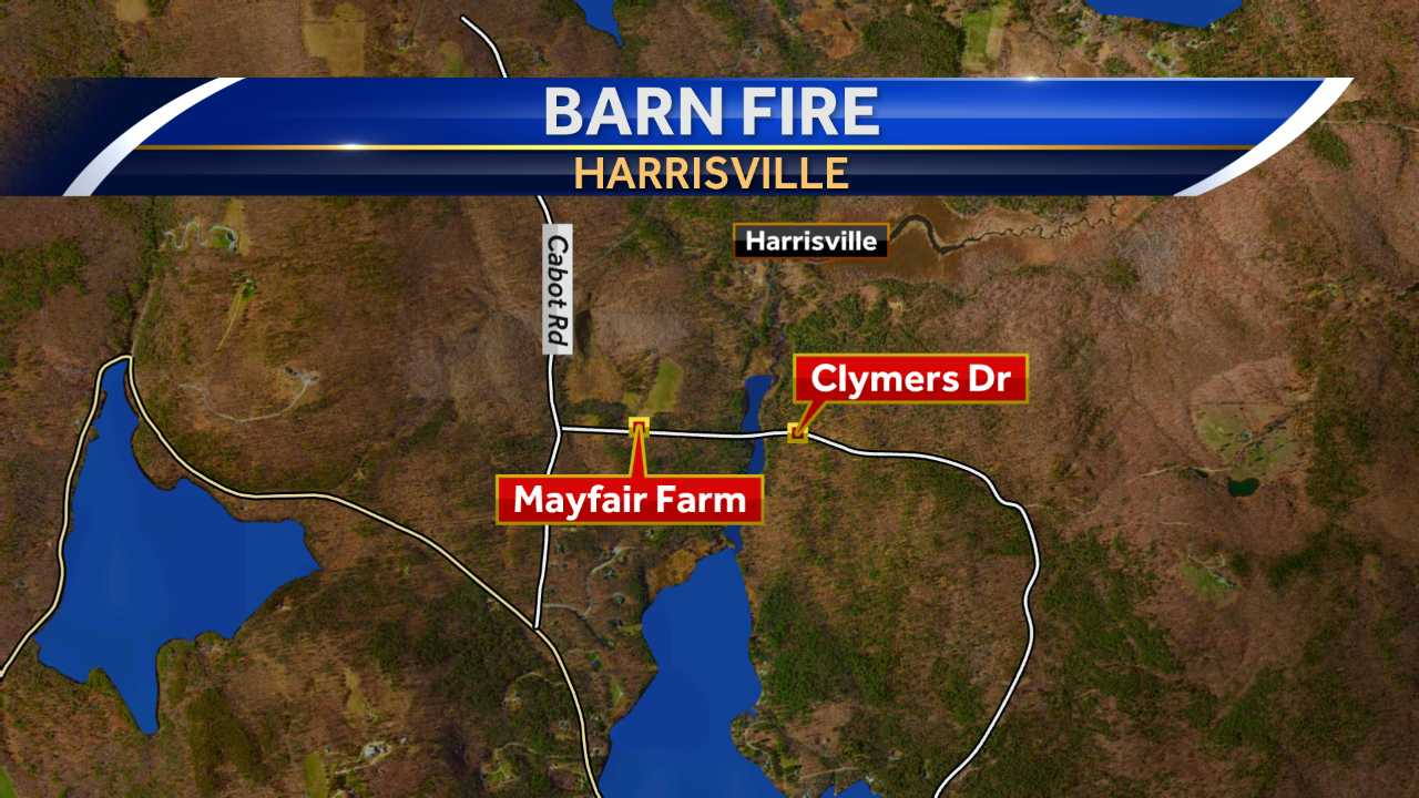 Fire burns barn in Harrisville