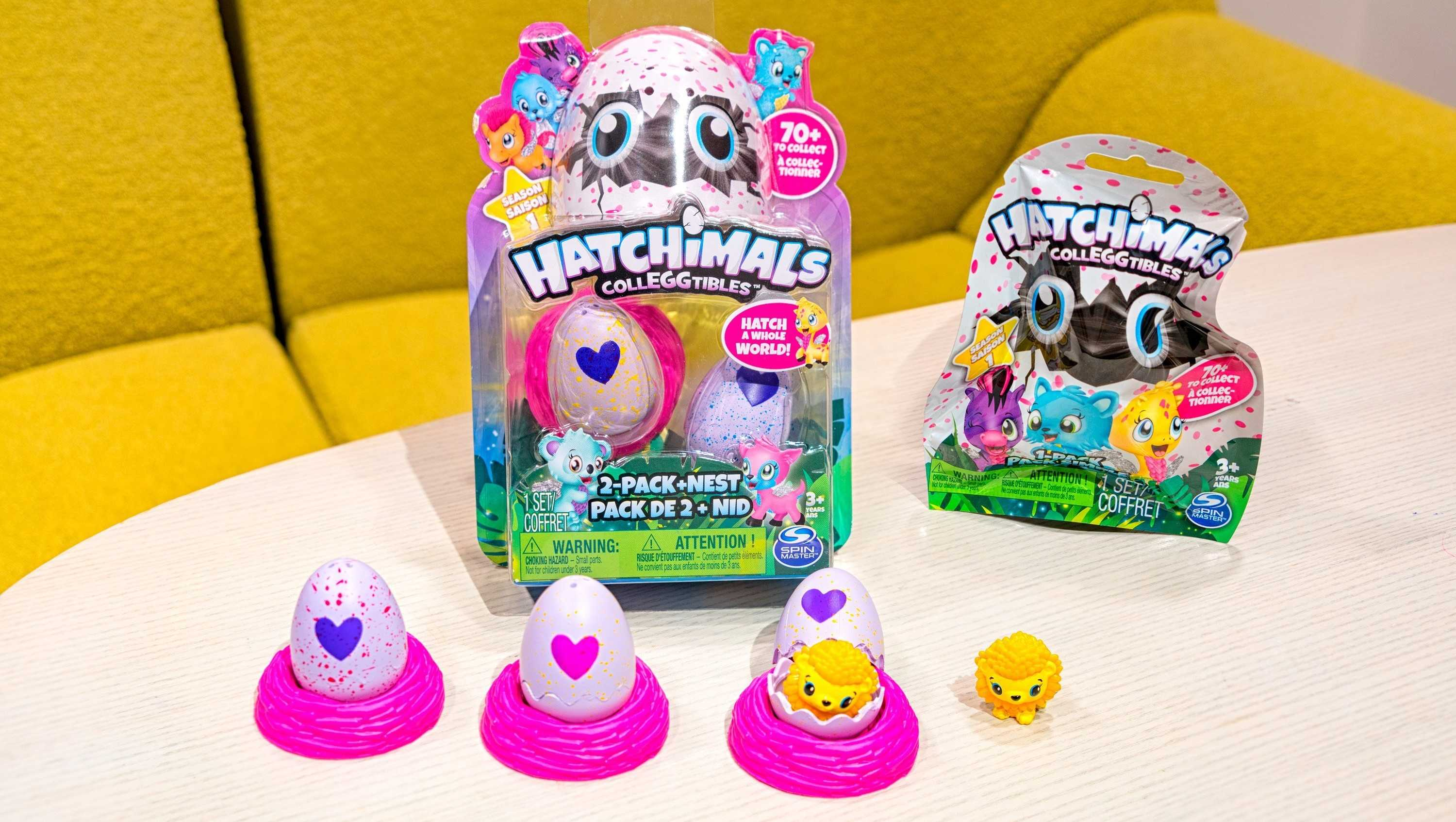 Hatchimals Colleggtibles include 70 mini plastic creatures that live inside a mini egg