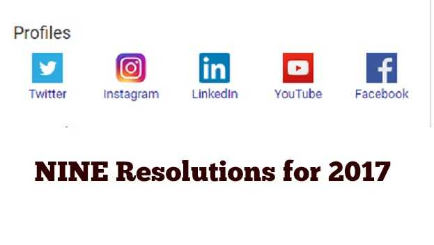 nine resolutions for 2017