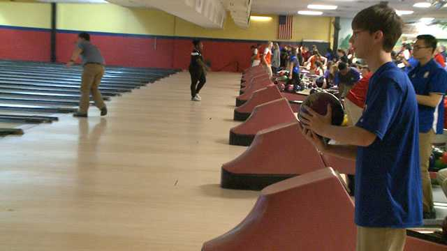 High school bowling tournament