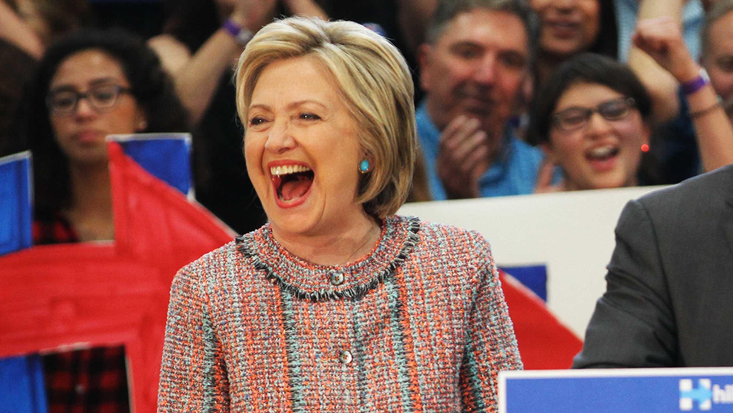 Hillary Clinton campaigns in Salinas