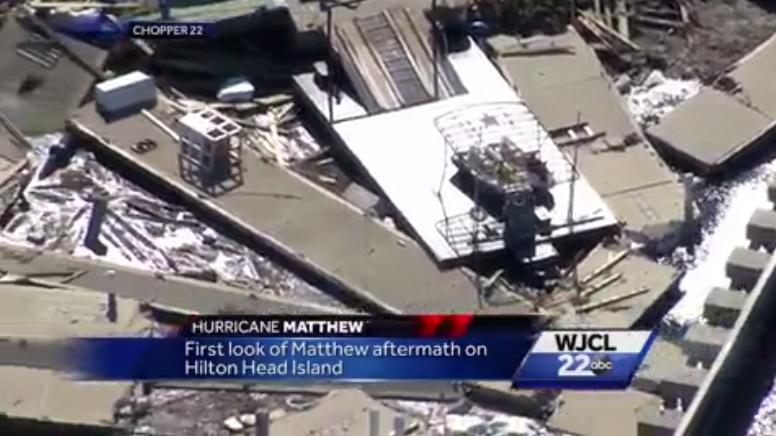 Hilton Head Island damage - Chopper 22
