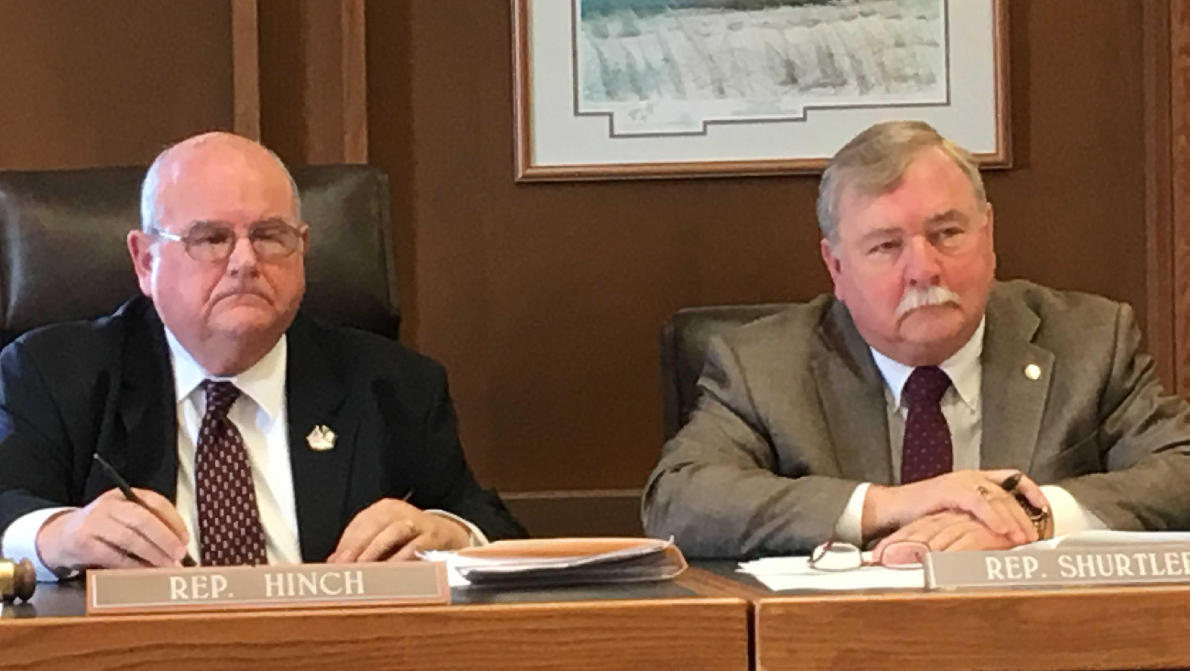 House Majority Leader Richard Hinch (left) and House Democratic Leader Steve Shurtleff are among the key players in Thursday's New Hampshire House vote on a controversial election reform bill.