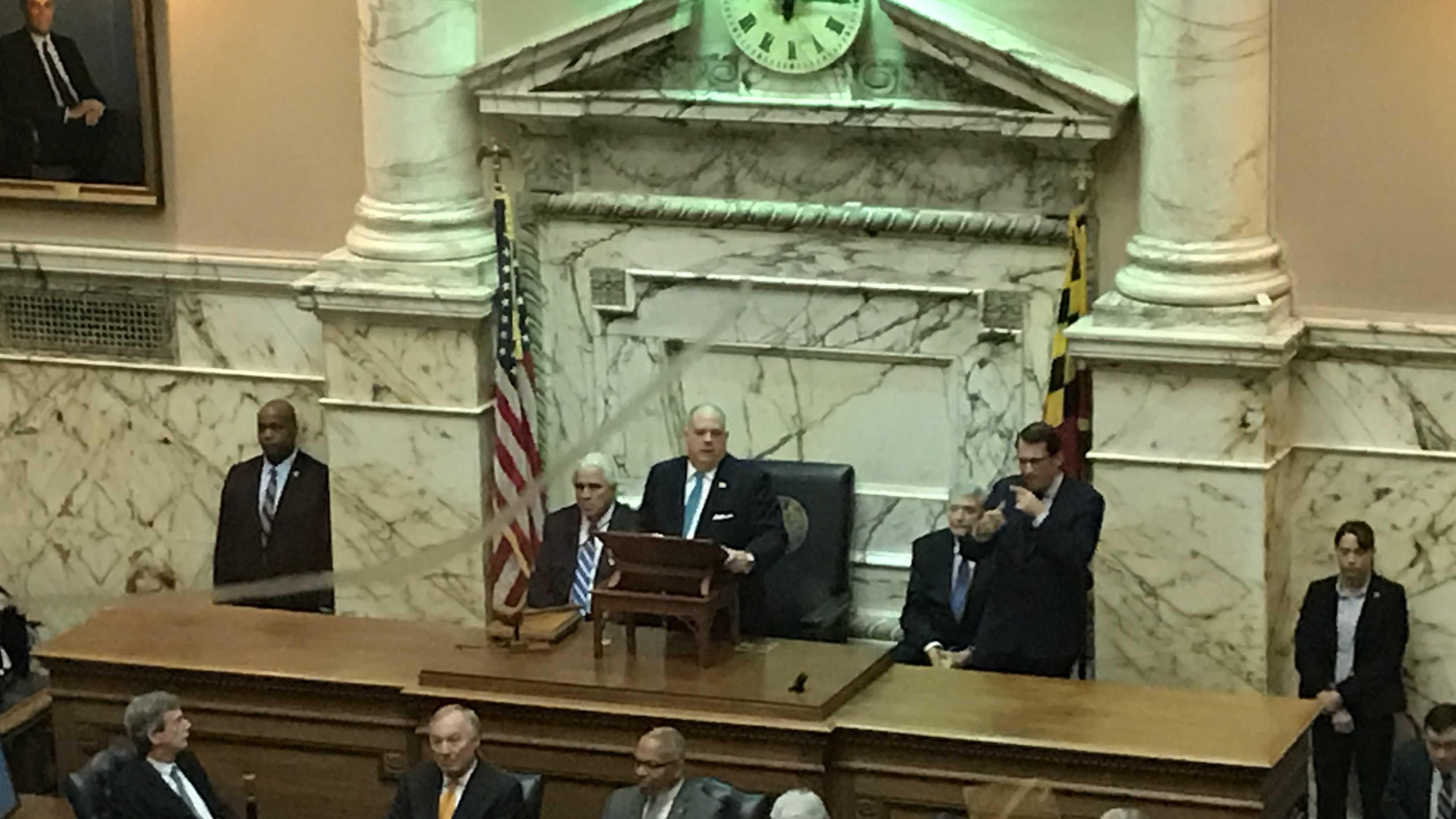 Gov. Larry Hogan delivers State of the State address