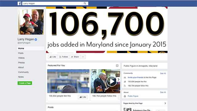 Gov. Larry Hogan's Facebook page