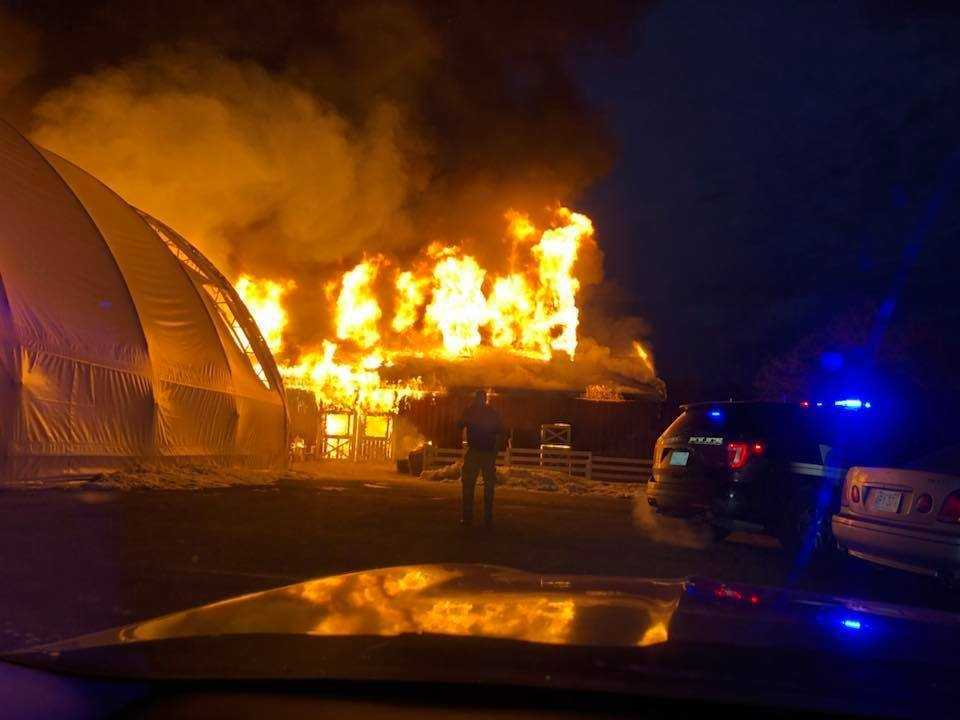 Dozens of animals killed after barn goes up in flames in Holliston
