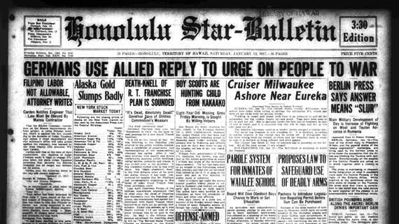 PHOTOS: Newspaper Front Pages Chronicle Life 100 Years Ago