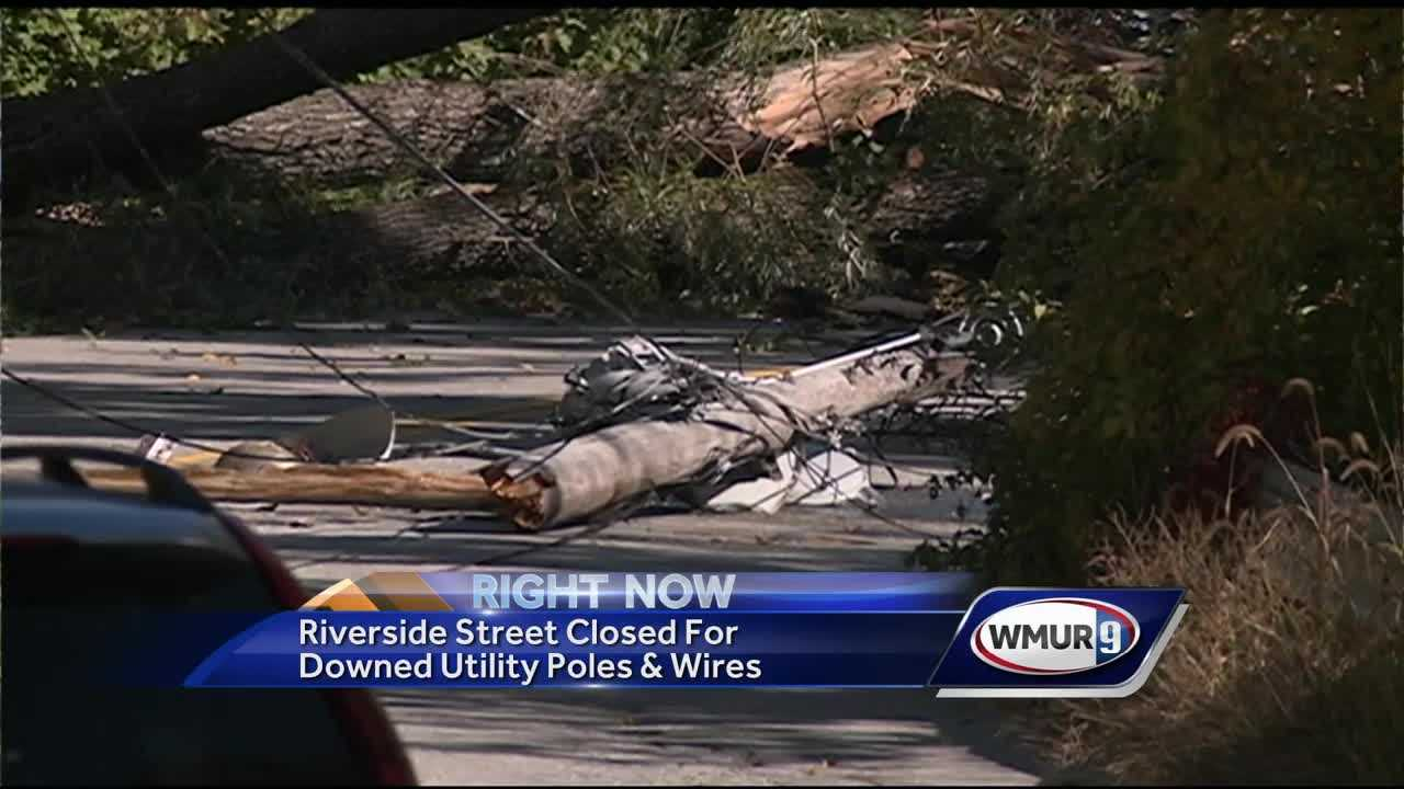Hooksett power lines down