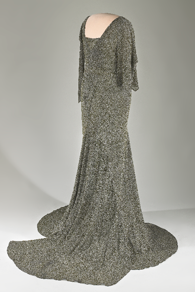 Lou Henry Hoover wore this dress during her husband's inauguration on March 4, 1929.