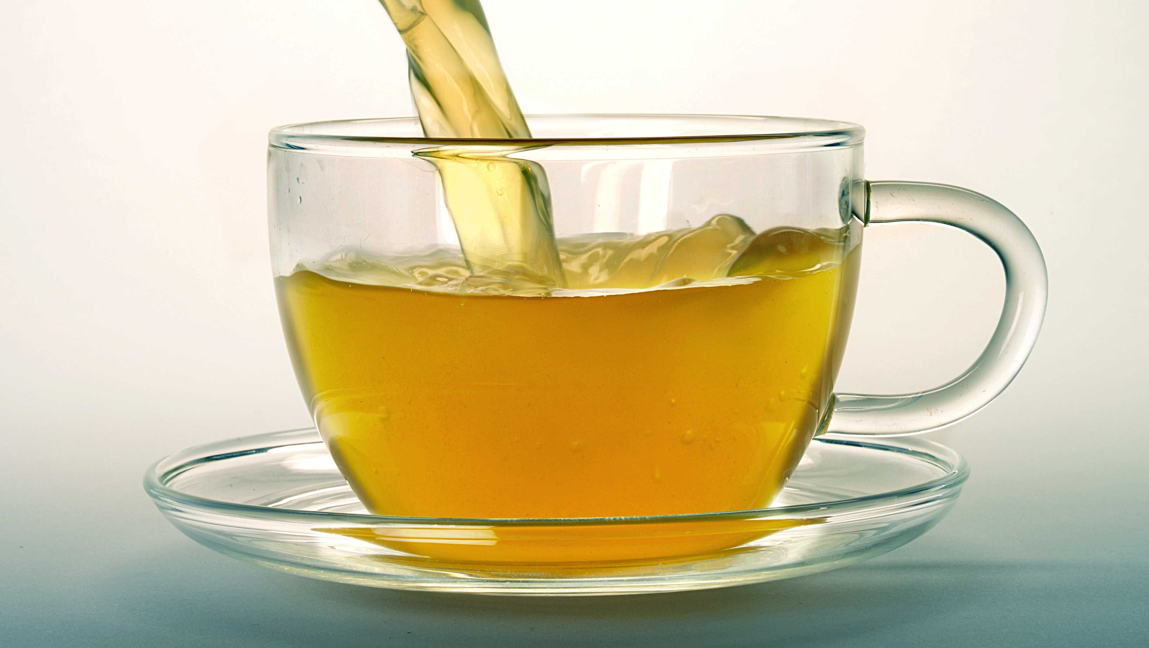 A cup of hot tea.
