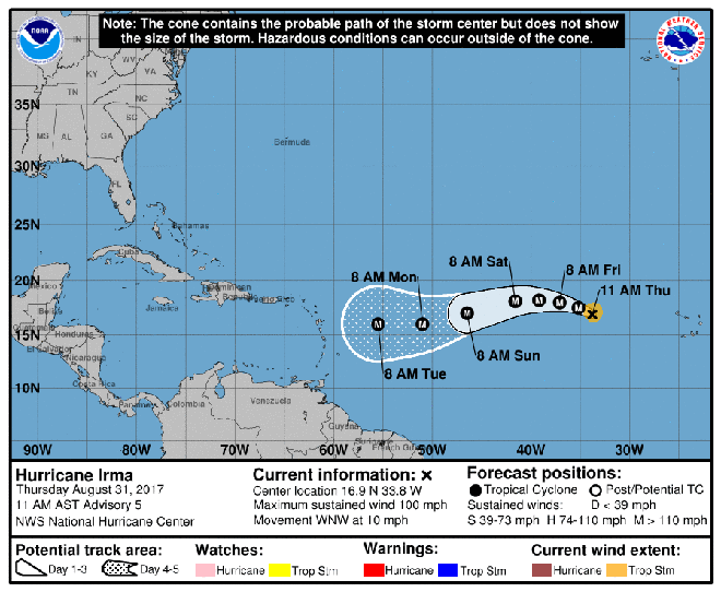 New hurricane rapidly forms in eastern Atlantic